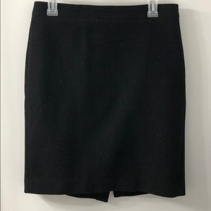 Black wool JCrew Mercantile Skirt